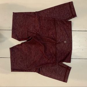 Lulu lemon high times pants 7/8 length (maroon)